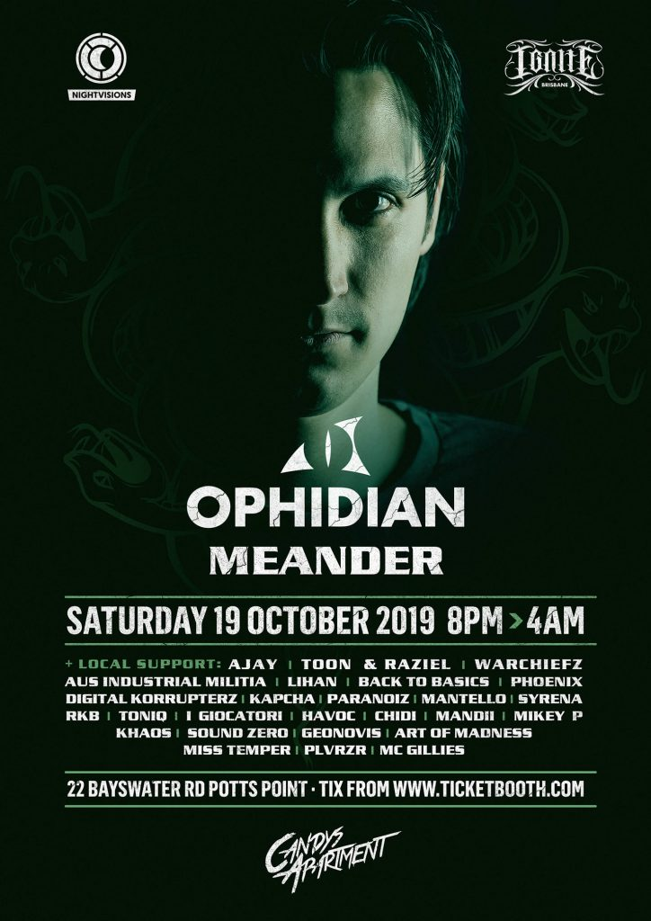Nightvisions & Ignite Pres OPHIDIAN & MEANDER
