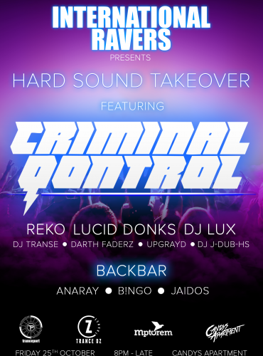 International Ravers pres. Hard Sound Takeover ft. Criminal Qontrol